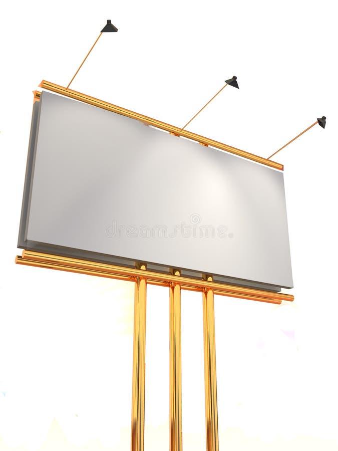 3d广告牌 向量例证