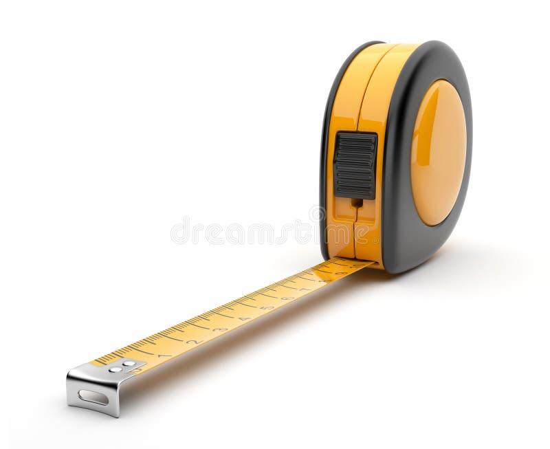 3d建筑图标评定磁带工具 库存例证
