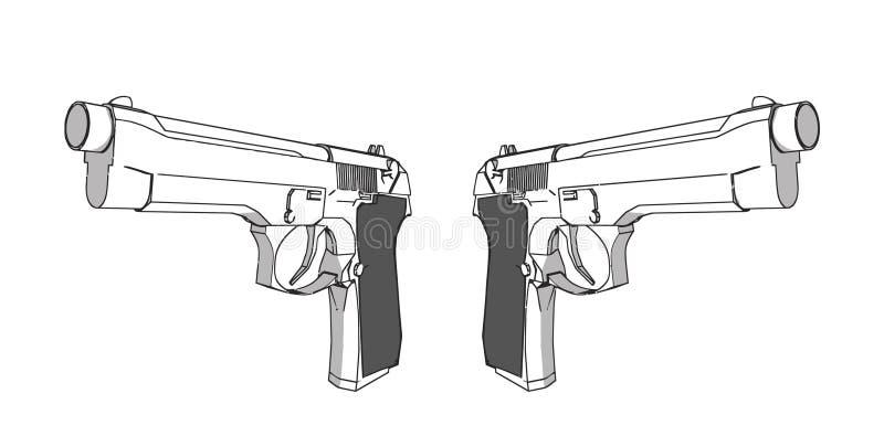3d开枪例证 皇族释放例证