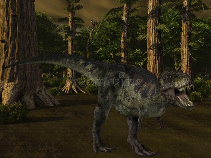 3d恐龙暴龙 库存例证