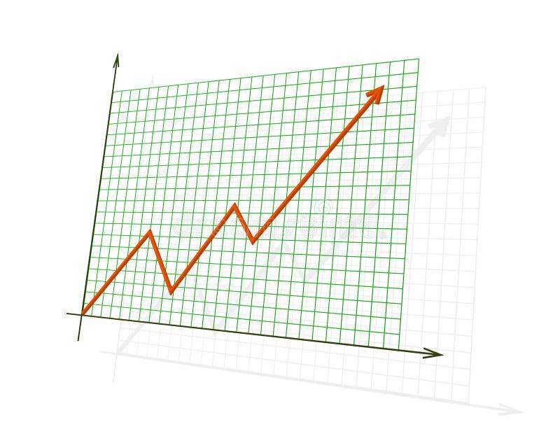 3d成绩绘制高红色陈列 库存例证
