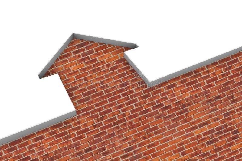 3d房子例证 库存例证
