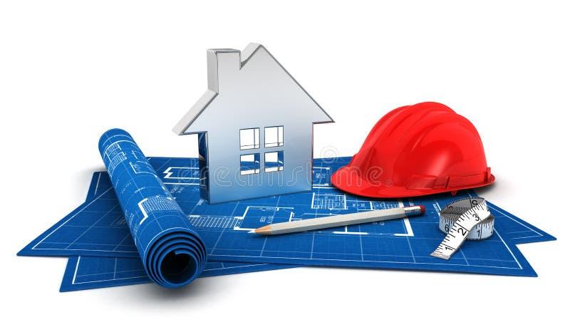 3d房子项目 向量例证