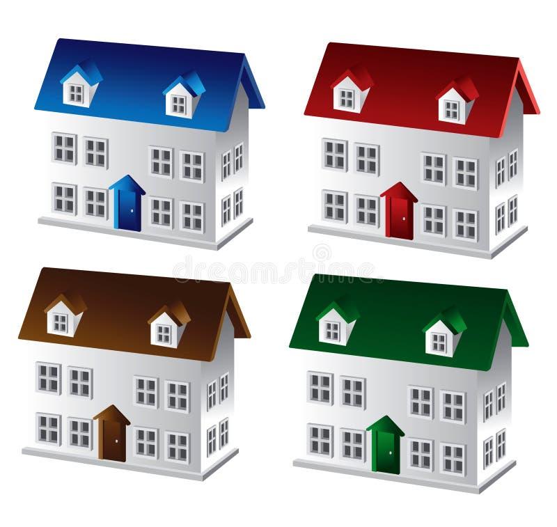3d房子 库存例证