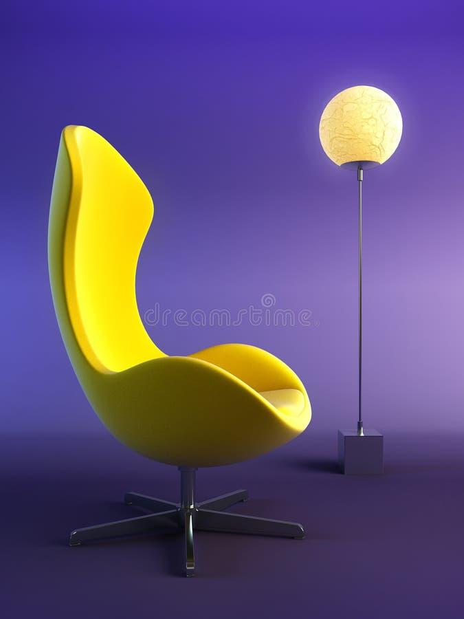3d扶手椅子现代翻译 向量例证