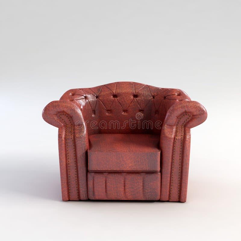 3d扶手椅子经典翻译 皇族释放例证