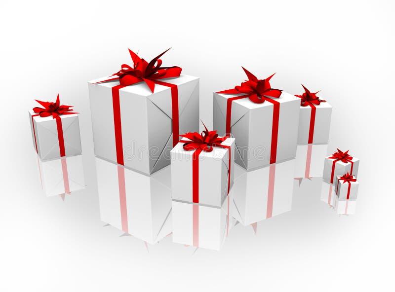 3d把查出的礼品装箱 皇族释放例证