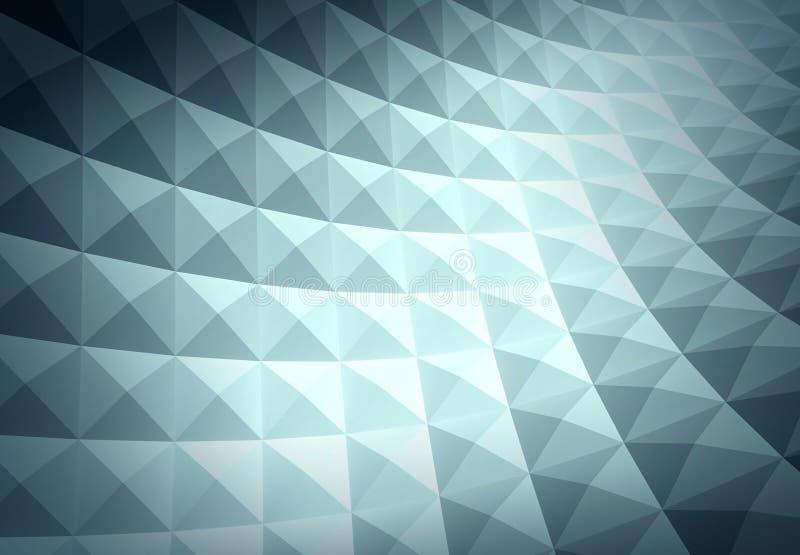 3d抽象几何背景 皇族释放例证