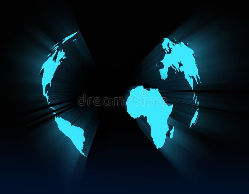 3d抽象地球行星视图 库存例证