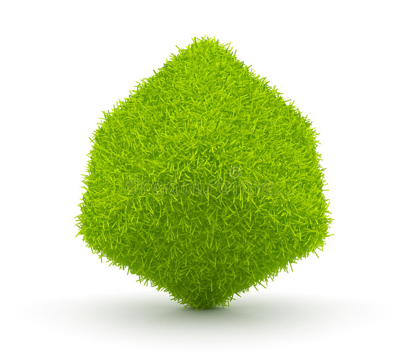 3d抽象多维数据集环境草绿色 皇族释放例证