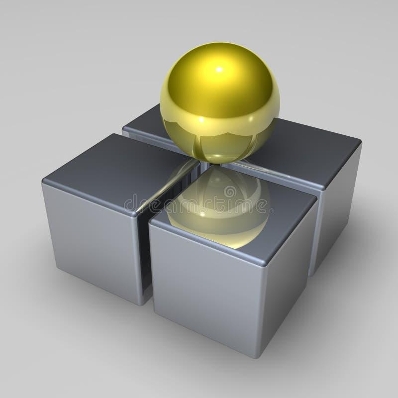 3d抽象形状 皇族释放例证