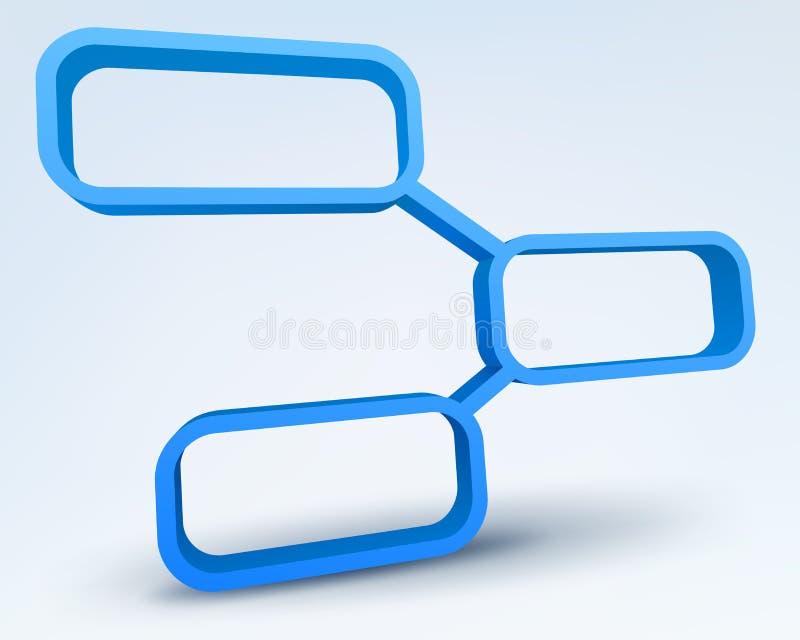 3d抽象框架 向量例证