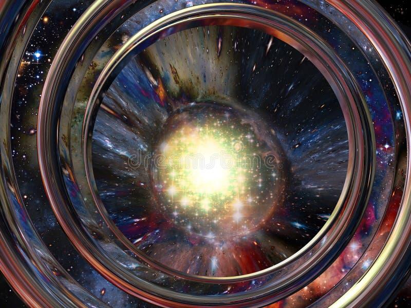 3d抽象空间 皇族释放例证