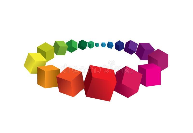 3d抽象背景五颜六色的要素 库存图片