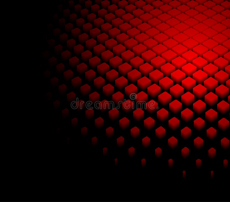 3d抽象背景动态红色 库存例证
