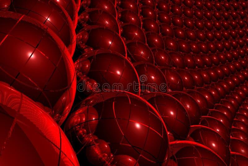 3d抽象背景红色 库存例证