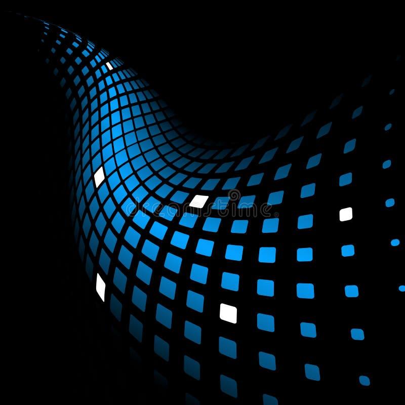 3d抽象背景蓝色动态 向量例证