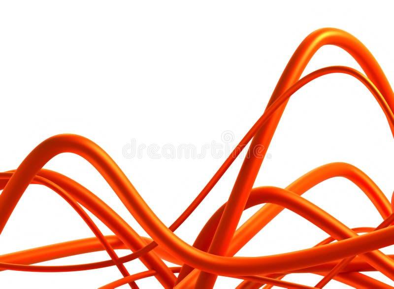 3d抽象背景设计漩涡 库存例证