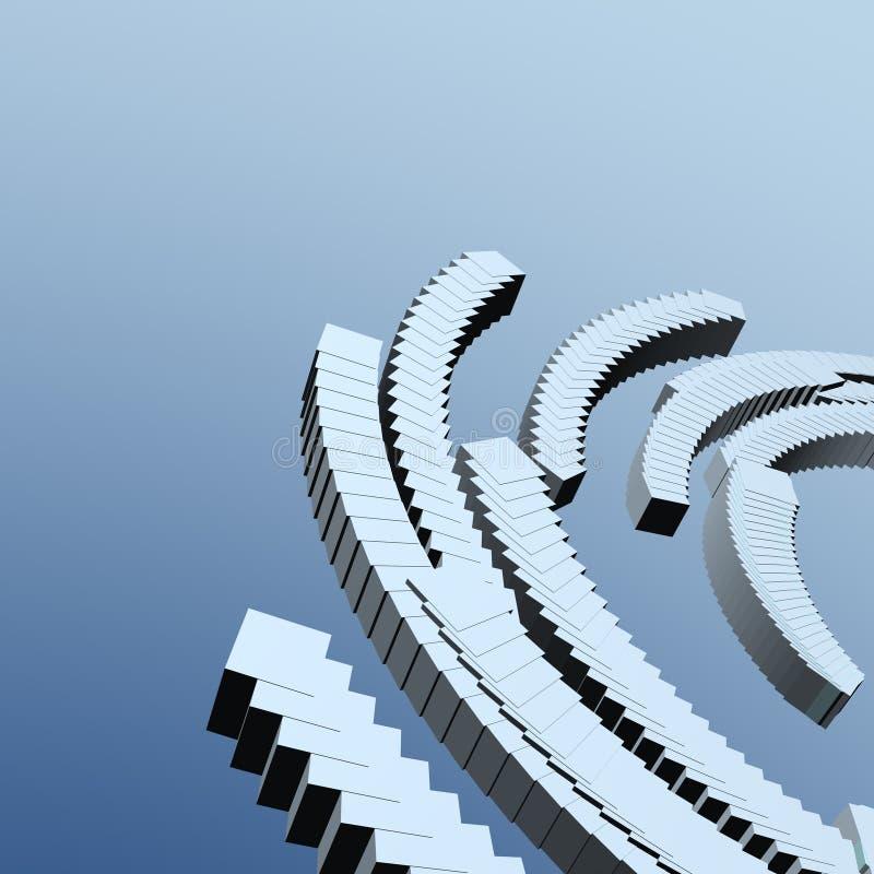 3d抽象背景 向量例证