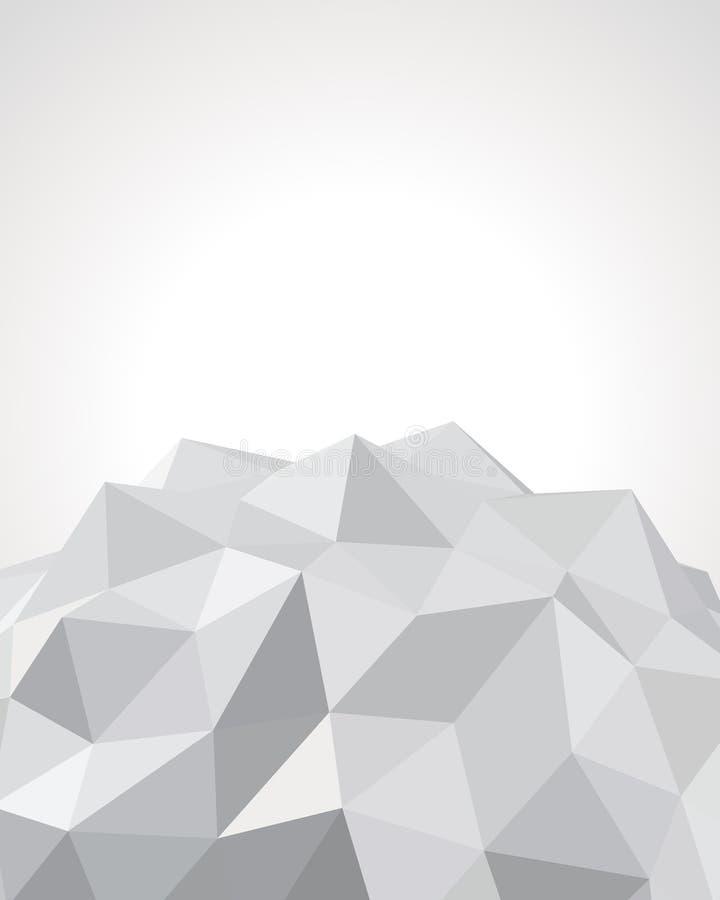 3d抽象origami纸张 皇族释放例证