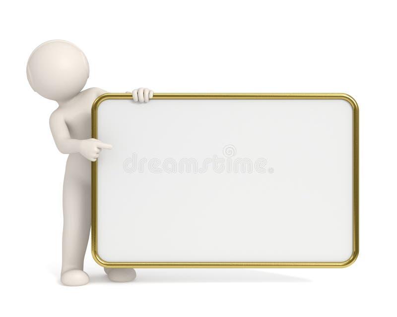 3d指向的董事会空的框架金人 皇族释放例证