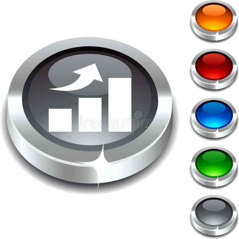 3d按钮增长 向量例证