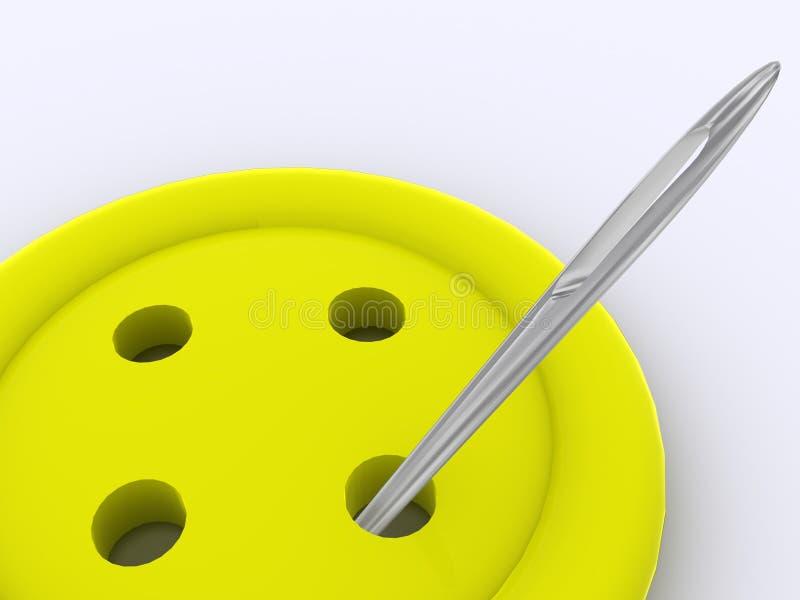 3d按钮黄色 向量例证