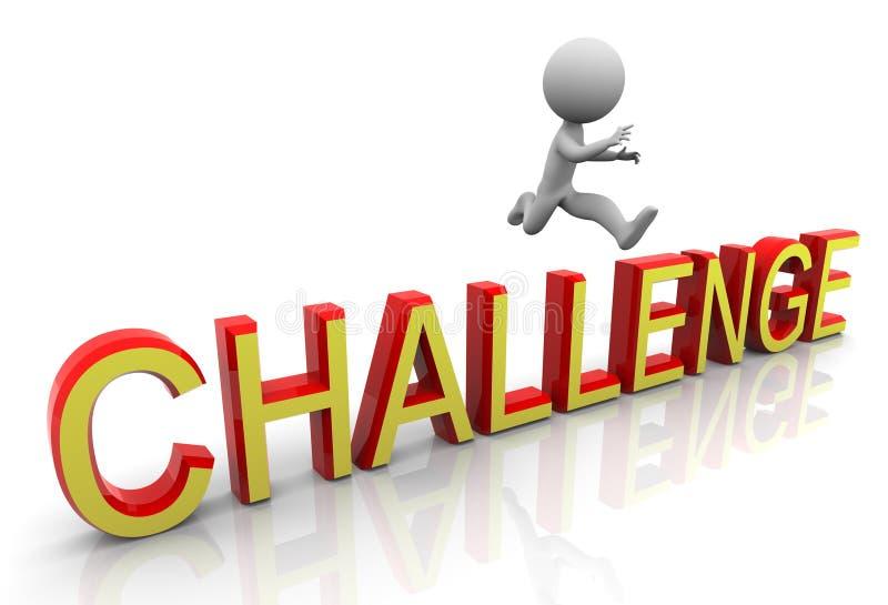 3d挑战上涨 向量例证