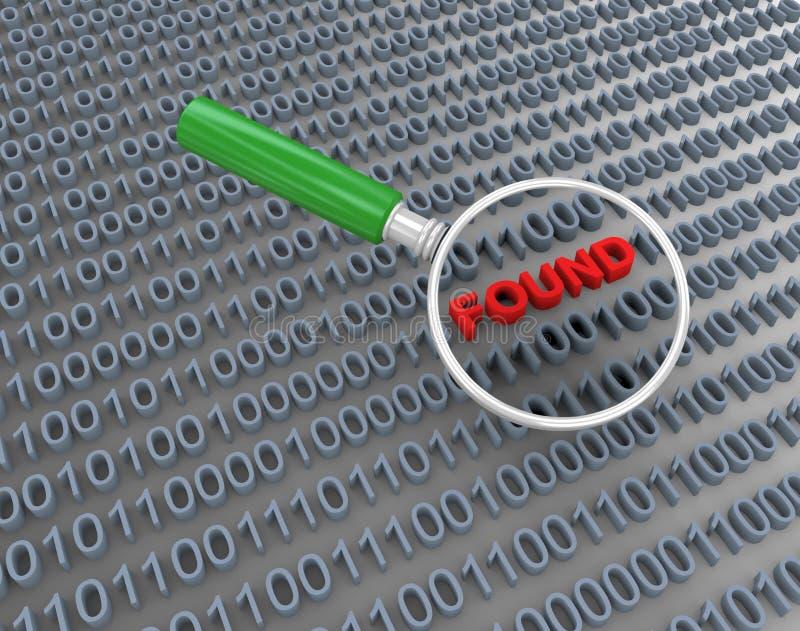 3d搜索二进制数据的放大器 向量例证