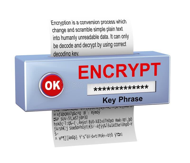 3d数据加密进程的概念 皇族释放例证