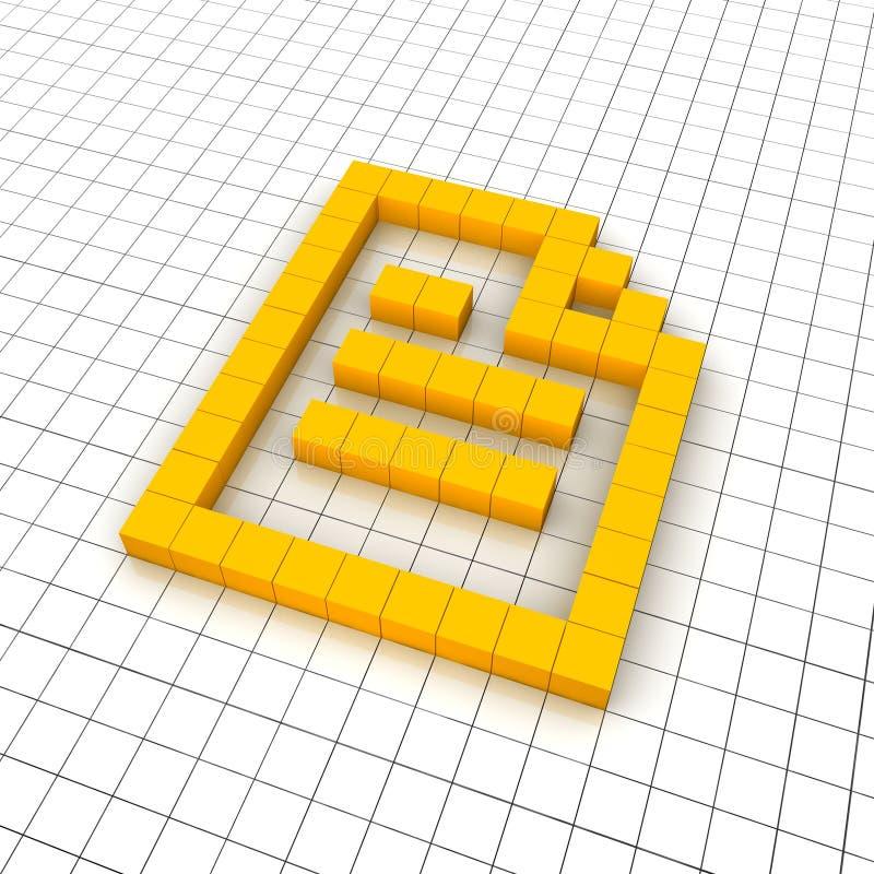 3d文件图标 向量例证