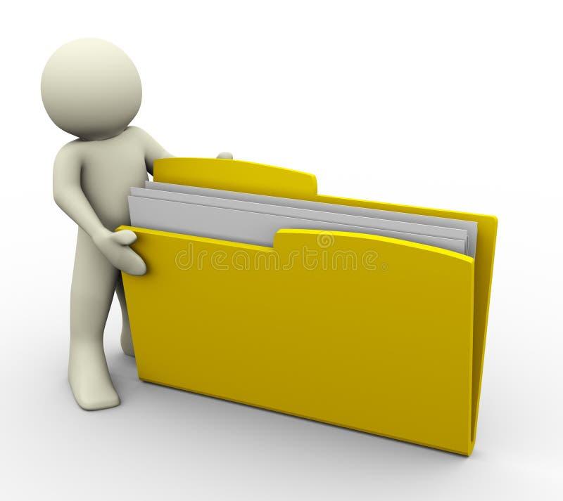 3d文件夹人 皇族释放例证