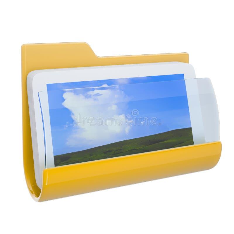 3d文件夹图标 库存例证