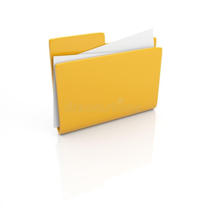 3d文件夹图标 向量例证