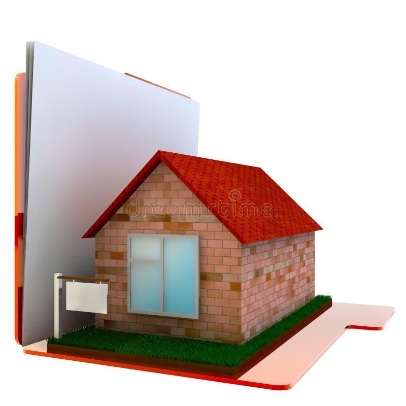 3d文件夹您家的图象 图库摄影