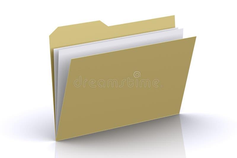 3d文件夹 图库摄影