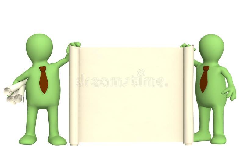 3d文件木偶卷 库存例证