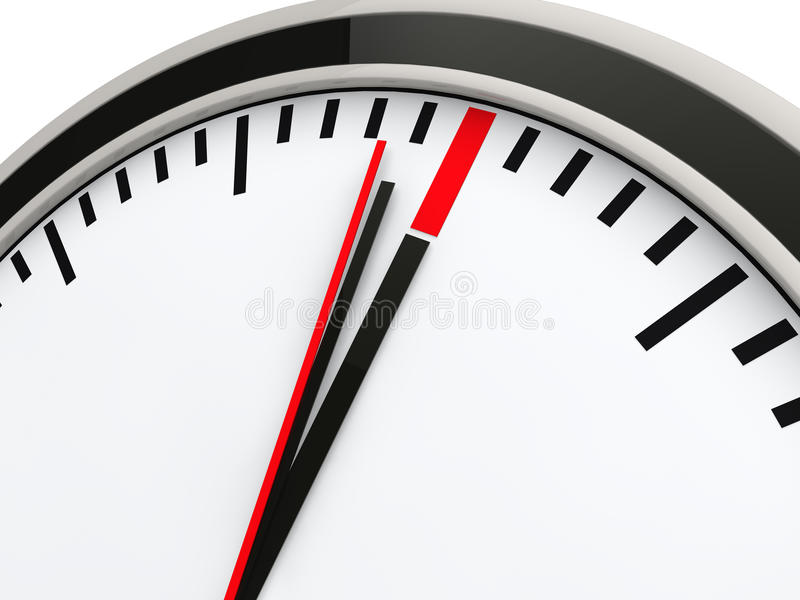 3d时钟截止日期时间 皇族释放例证
