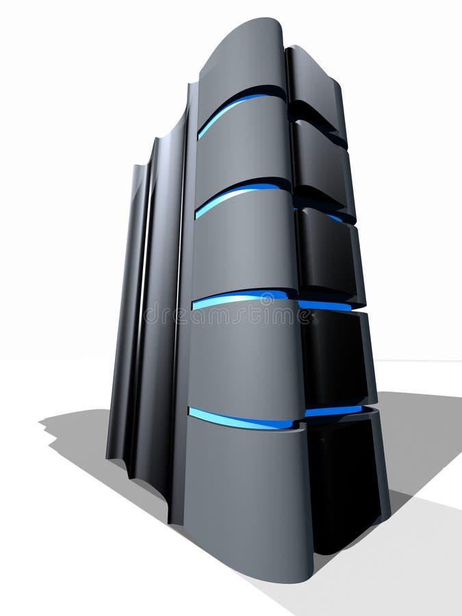 3d服务器塔 向量例证