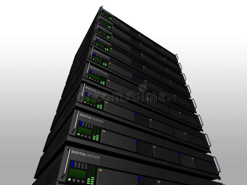 3d服务器 皇族释放例证
