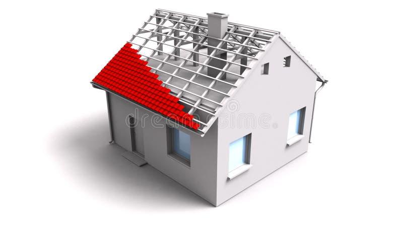 3d未完成的房子 向量例证