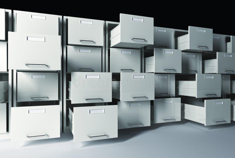 3d机柜文件 向量例证