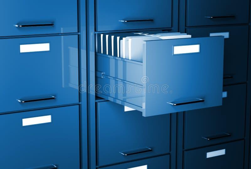 3d机柜文件 库存例证