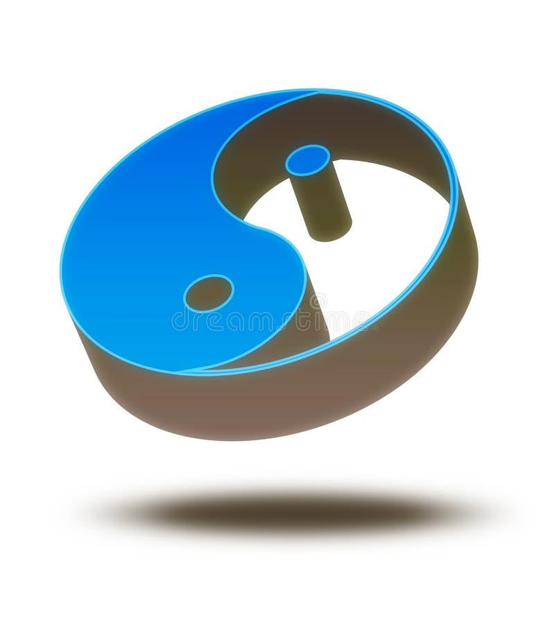 3d杨yin 向量例证