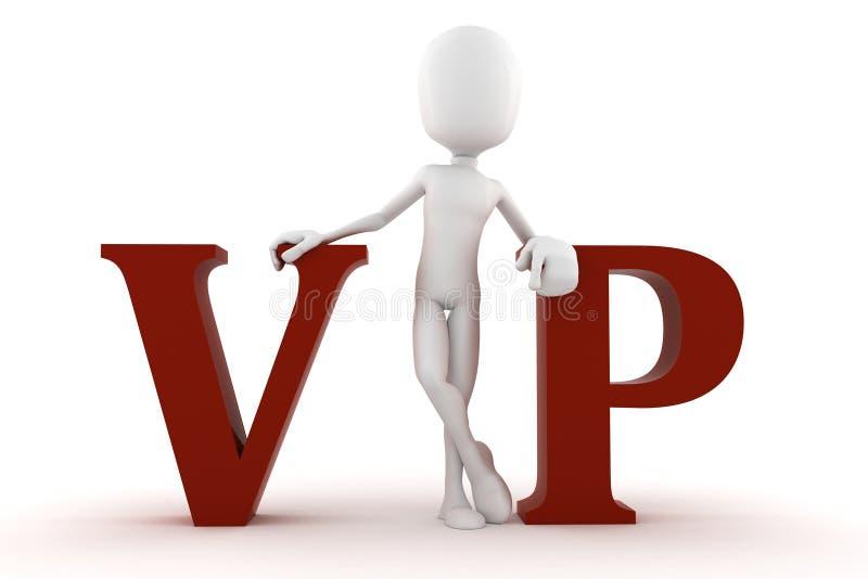 3d查出的人vip白色 库存例证