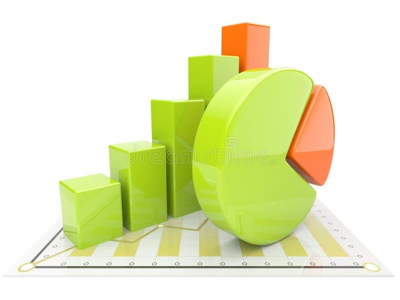 3d查出的企业绘制 库存例证