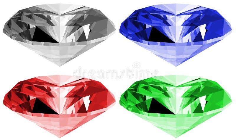 3d查出的宝石 向量例证
