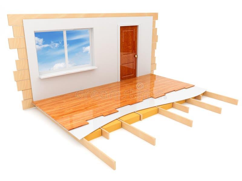 3d查出的建筑房子 向量例证