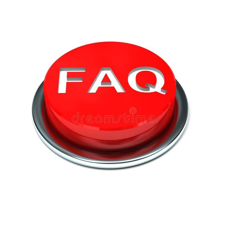 3d查出的按钮常见问题解答 皇族释放例证
