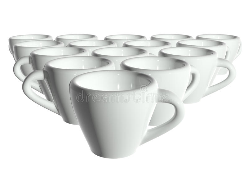 3d查出的杯子使影子茶空白 向量例证
